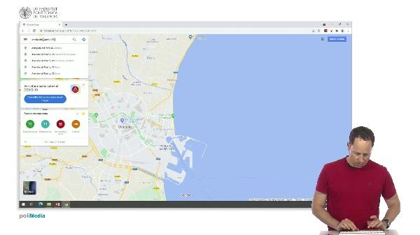 Buscar en Internet. Los mapas de Google
