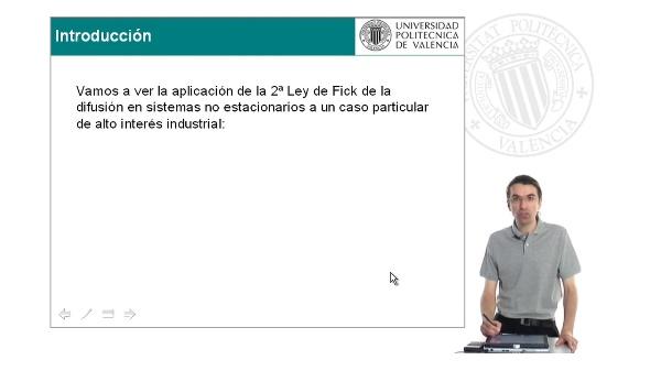 Problema. 2º Ley de Fick