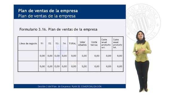 Plan de ventas de la empresa