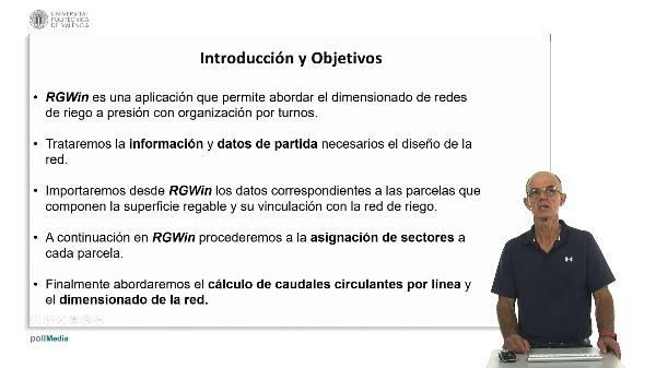Dimensionado de una red colectiva de riego a presión con RGWin en T.M. de Utiel (Valencia) con organización del riego por puntos.