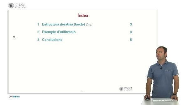 Llenguatge C: Estructura iterativa for
