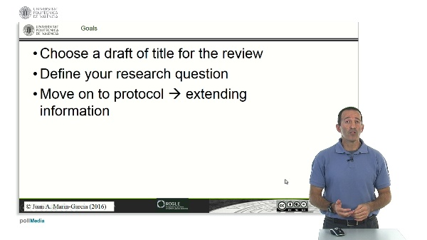 Literature review guided example: from title to draft protocol