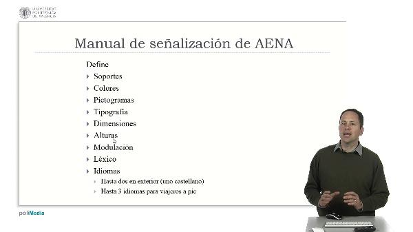 Ingeniería Aeroportuaria. Tema 17. Manual de señalética de AENA