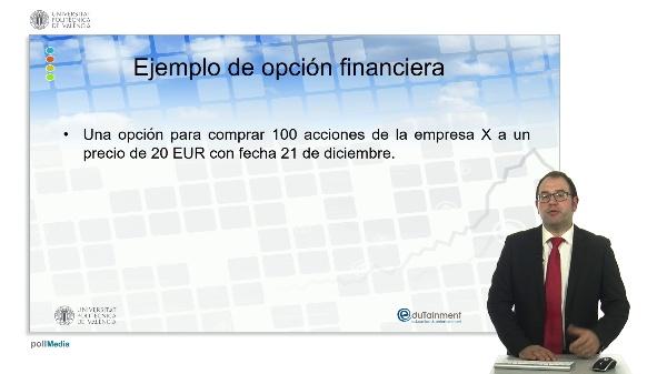 Concepto de opción financiera