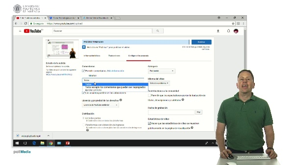 Opciones avanzadas al subir un vídeo a Youtube