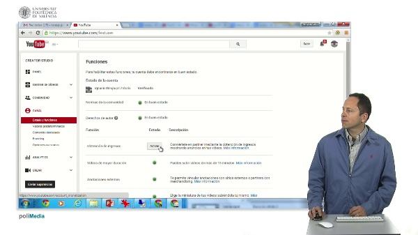Configuracion canal de Youtube