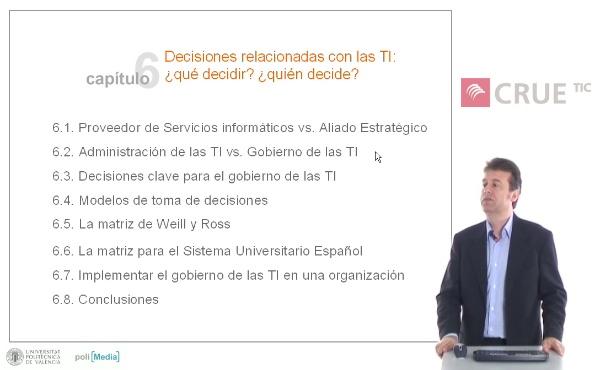 Decisiones relacionadas con las TI: ¿qué decidir? ¿quién decide?