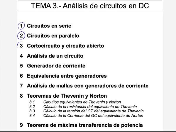 Teoría de Circuitos 1. Lección 3. 8.1 Teoremas Thevenin y Norton