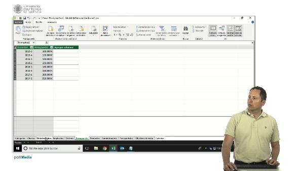 Excel. Power Pivot. Función DAX para convertir un campo trimestre de texto en fecha