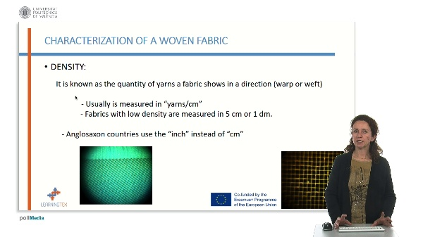 Characterization of fabrics. Density