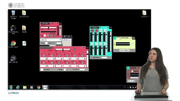 Módulos básicos e interconexiones : player, sample player, mixed, rec, speakers