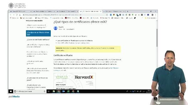 Plataforma edX. Tipos de acceso audit y verificado
