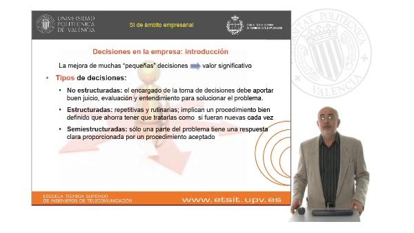 Sistemas de información como soporte a la toma de decisiones