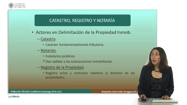 Delimitación de la propiedad inmobiliaria. Catastro y registro II