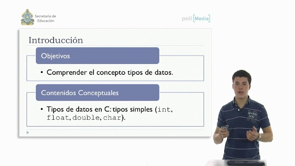 Definición de tipos de datos. Tipos de datos simple