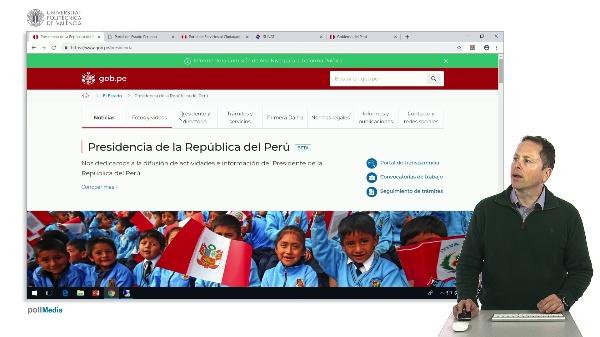 Buscar en Internet. Web administrativas del Perú