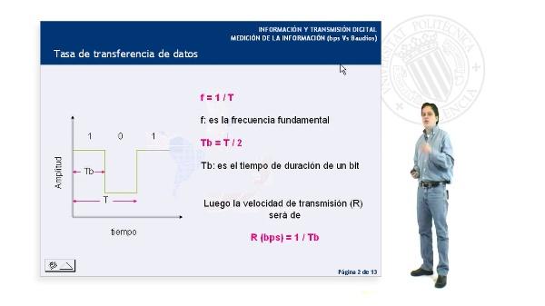 Medición de la Información (bps Vs. Baudios)