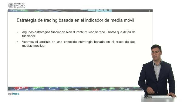 Estrategia de trading basada en el indicador de la media movil