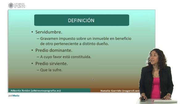 Delimitación de la propiedad inmobiliaria. Servidumbres. Definición