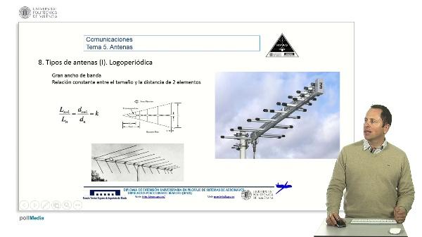 Master RPAS. Asignatura comunicaciones. Antenas, logoperiódica