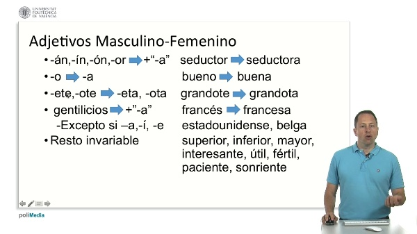 Adjetivos Masculino-Femenino