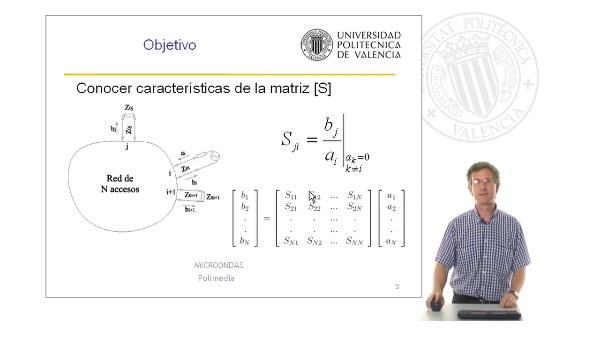 Microondas. Características Matriz de Dispersión según las propiedades de la red