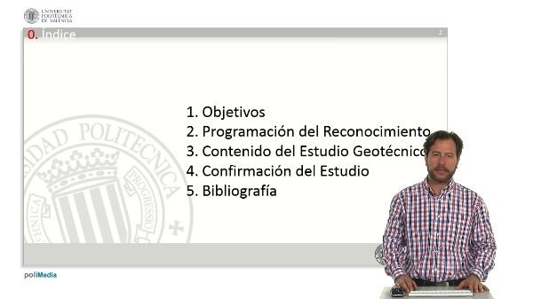 Estudio Geotecnico. Programacion y confirmacion