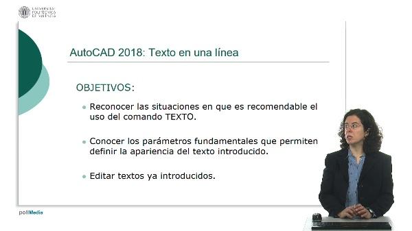 AutoCAD 2018: Texto en una línea
