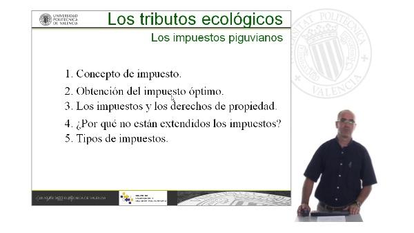 Los tributos ecológicos. Los impuestos piguvianos