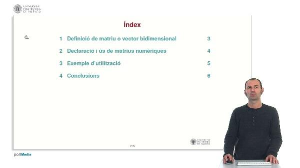 Llenguatge C: Matrius numèriques