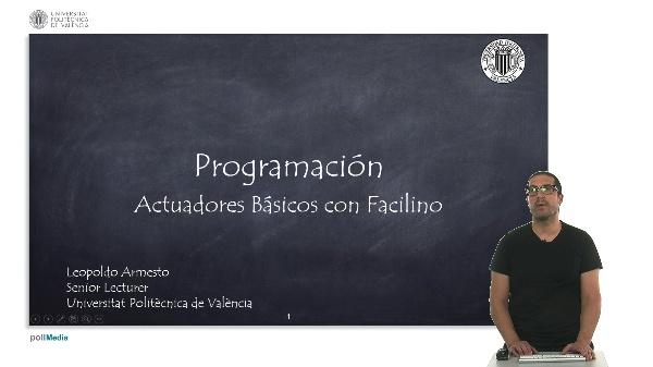 Programación: Actuadores Básicos con Facilino