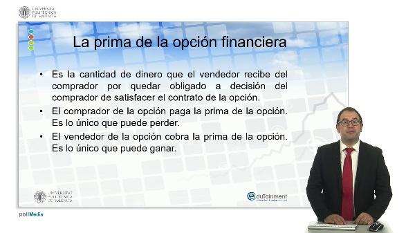 La prima de la opción financiera