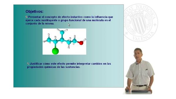 Efecto inductivo en las moléculas orgánicas