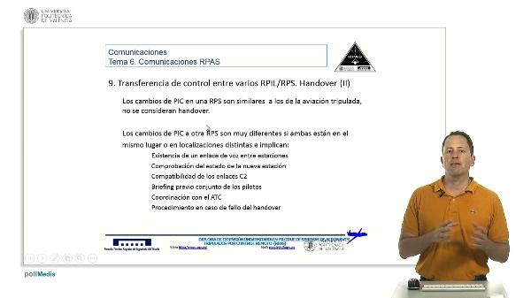 Máster pilotaje rpas. Comunicaciones RPAS. Handover