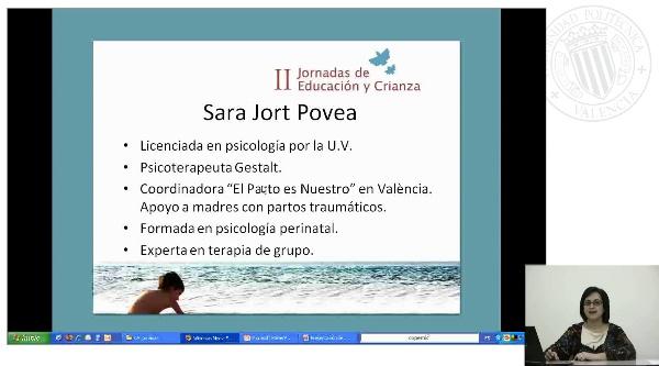 Presentación conferencia de Sara Jort sobre el Parto y Puerperio
