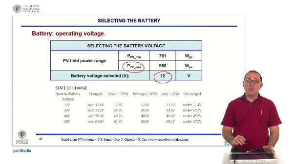 Rural electrification at 12V. Selecting the battery