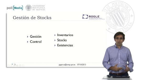 Gestión de Stocks. Control de Inventarios