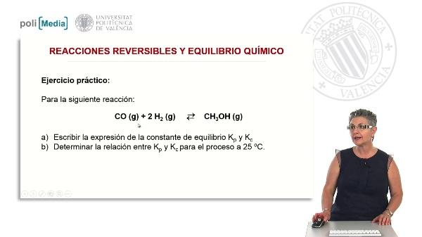 Reacciones reversibles y equilibrio químico (ejercicio práctico)