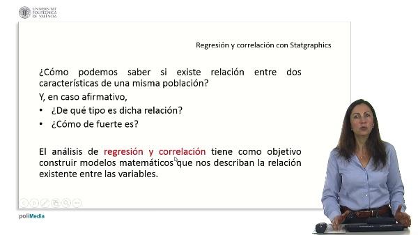 Regresion y correlacion con Statgraphics