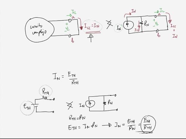Teoría de Circuitos 1. Lección 3. 8.4.4 Cálculo intensidad equivalente Norton. Ejercicio 3