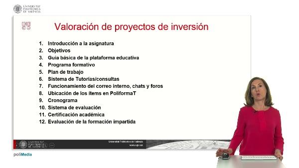 Valoración de proyectos de inversión