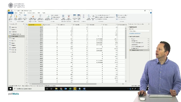 MOOC Power BI. Combinar consultas resumiendo un campo, agrupar por una columna en Power Query
