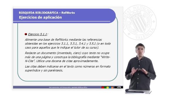RefWorks.Ejercicios de aplicación