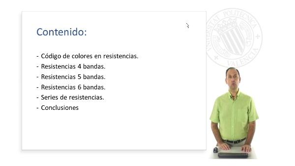 Código colores resistencias
