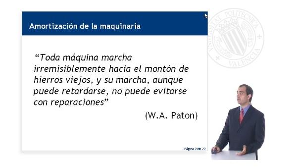 AMORTIZACIÓN DE LA MAQUINARIA EN LA CONSTRUCCIÓN