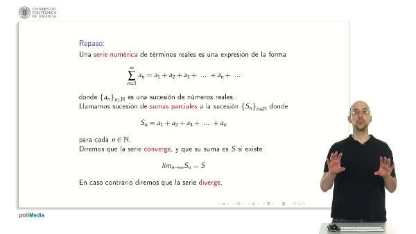 Series Numéricas: Criterio de D'Alember