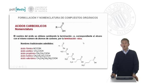 Funciones oxigenadas: ácidos carboxílicos y ésteres