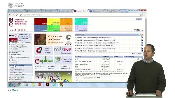 Buscar en Internet. Ejercicio. Información estadística España