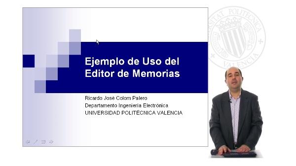 Ejemplo de uso del Editor de Memórias