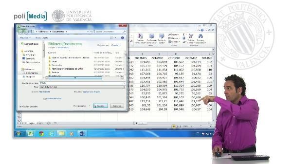 Exportar datos de Excel